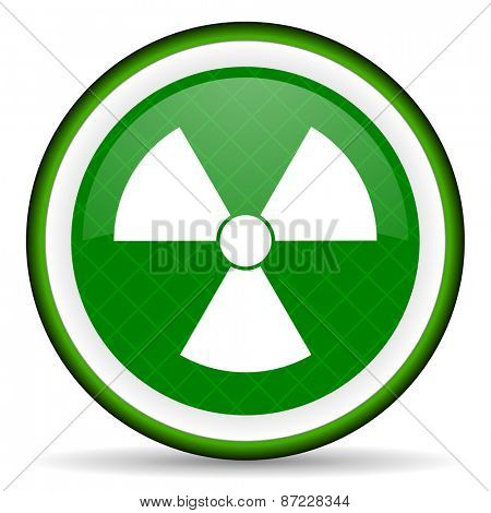 radiation green icon atom sign
