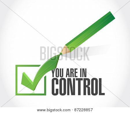You Are In Control Approval Sign Concept