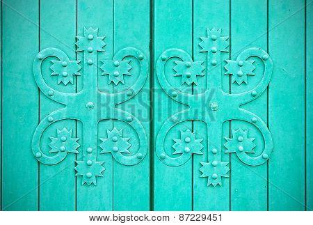 Vyborg. Russia. Fragment of a door