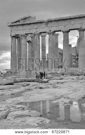 Parthenon Reflection