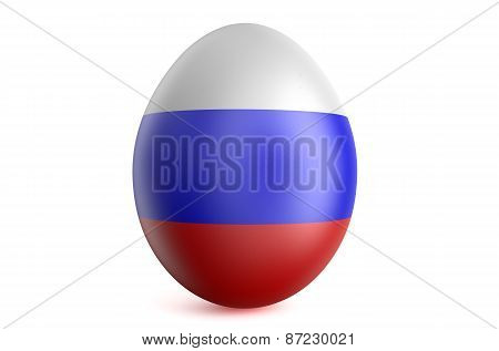 Easter Egg With The Flag Of The Russia