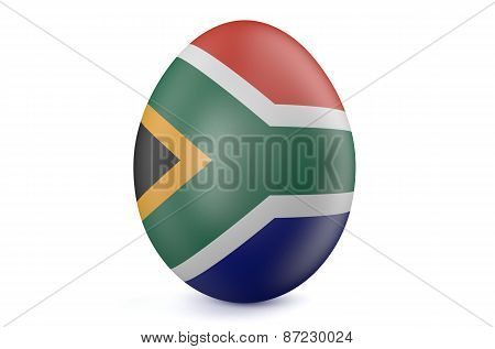 Easter Egg With The Flag Of The South Africa