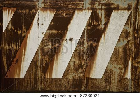 Rusty Metal Surface With Faded Paint