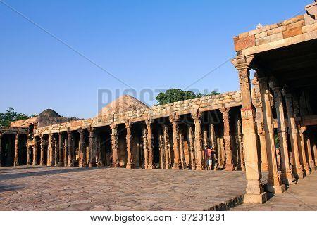 Pillars In Qutub Minar