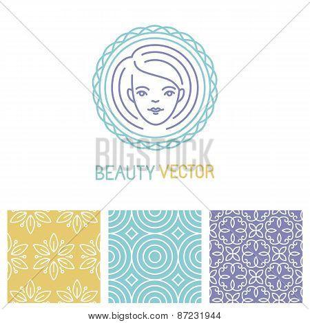 Vector Beauty Logo Design Template