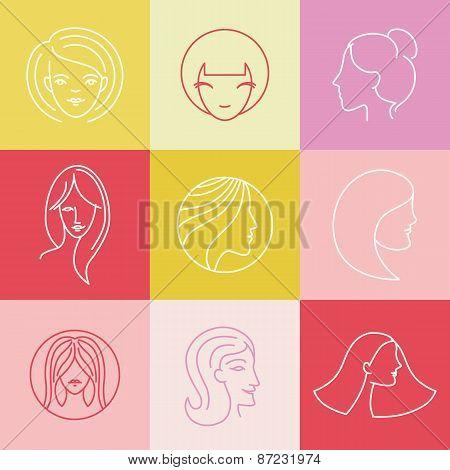Vector Women's Logo Design Elements
