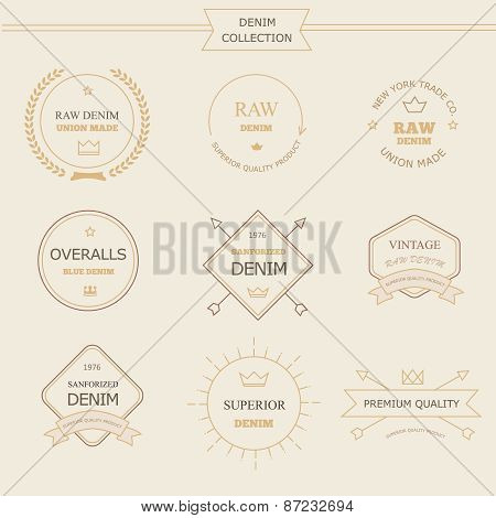 Vintage labels denim typography, t-shirt graphics, s