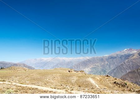 Colca Canyon And Blue Sky
