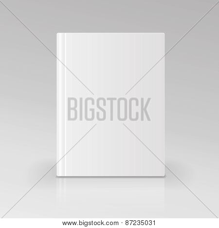 Blank book cover  illustration. Isolated object