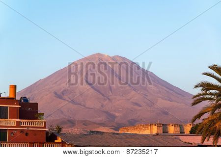 El Misti Volcano Golden Hour