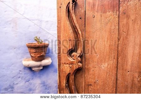 Old Wooden Door In Arequipa