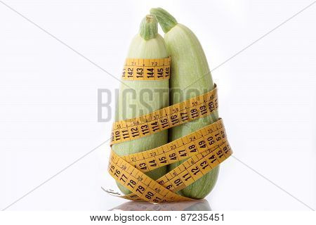 Zucchini And Measuring Tape