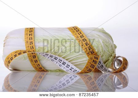 Chinese Cabbage And Measuring Tape