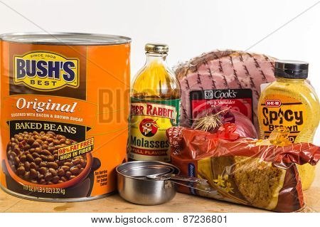 Ingredients For Sweet Southern Baked Beans