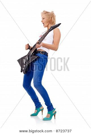 Blonde With A Guitar