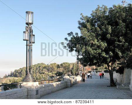 Jerusalem Lantern On Haas Promenade 2010