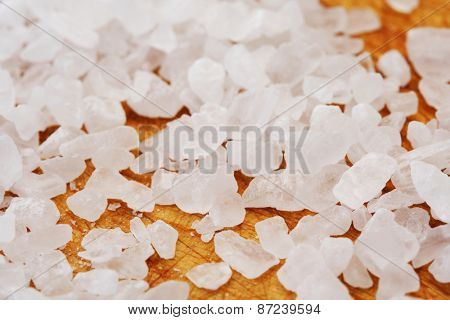 Close-up of salt grains