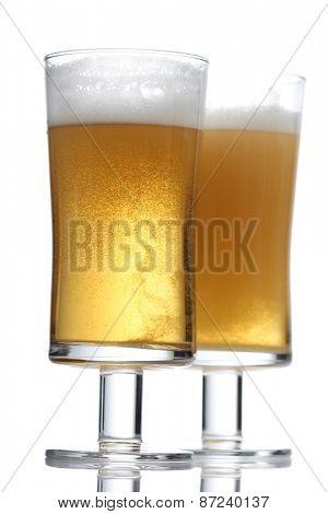 Pint of beer - studio shot