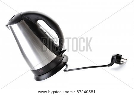 Studio shot of kettle on white background