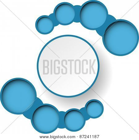 Abstract blue paper infographics. illustration.