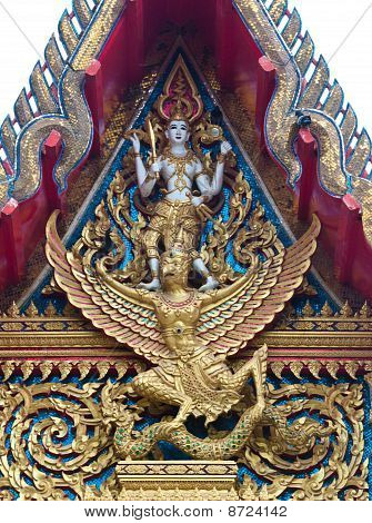 Gable Apex Of Thai Temple