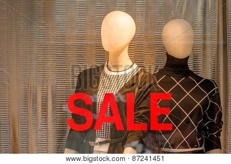 seasonal sales in a fashion store. time for bargain hunters