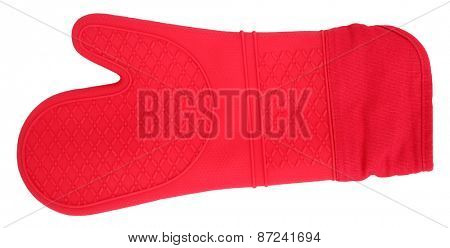 Oven glove red silicone