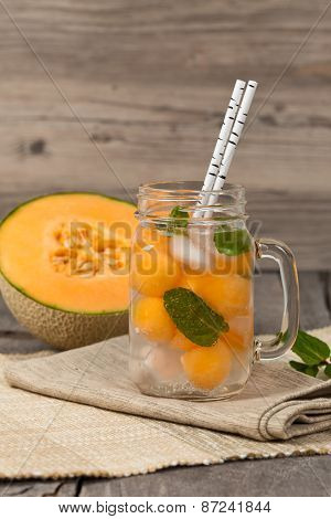 Melon and Mint Lemonade