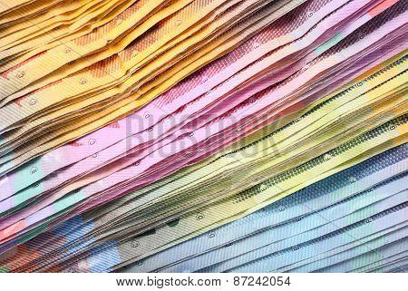 Swiss francs macro paper banknotes
