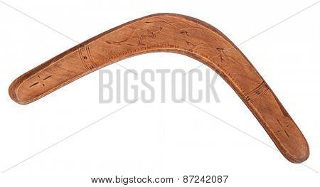 Old wooden boomerang