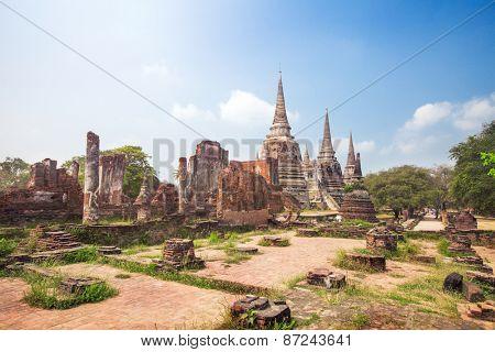 Wat Phrasisanpetch in the Ayutthaya Historical Park, Ayutthaya, Thailand