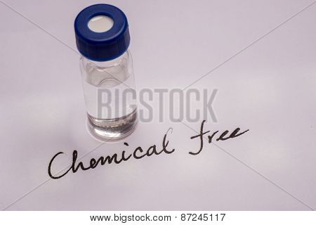 Sample Vial On The Paper