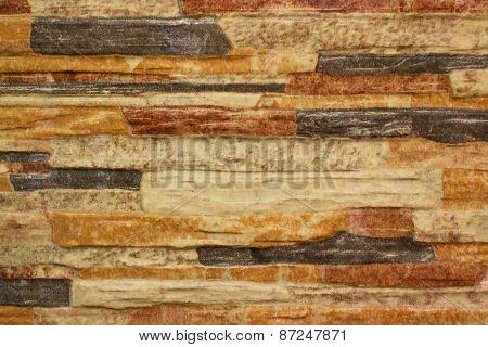 Orange bricks background