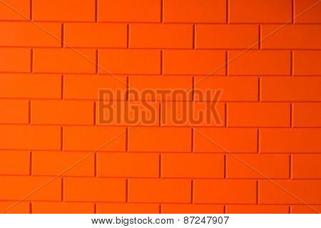 Orange bricks background