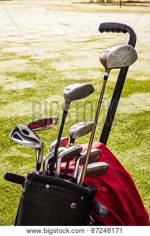 Golf Clubs Closeup