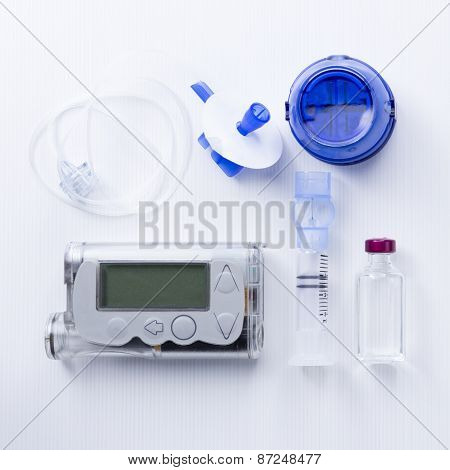 Insulin Pump Set Background.