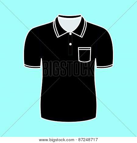 Black polo shirt outline