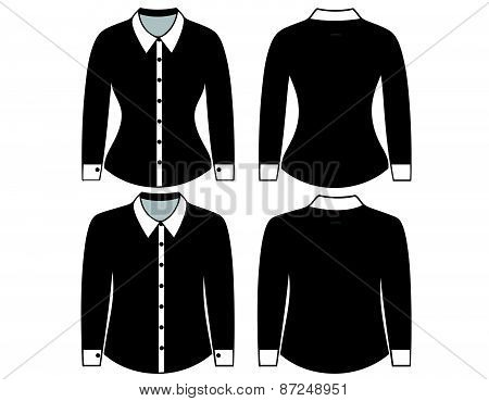 Blank shirt with long sleeves template