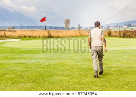 Red Flag Golf Hole