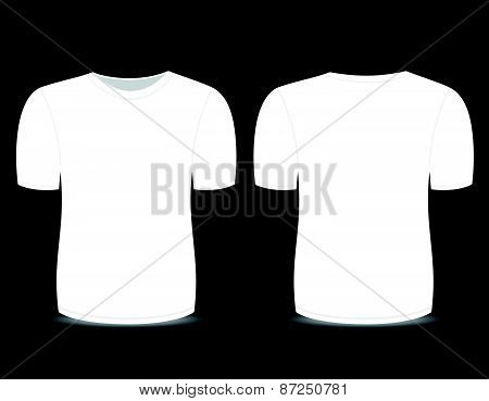 Blank t-shirt white template