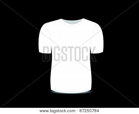 Blank t-shirt white template