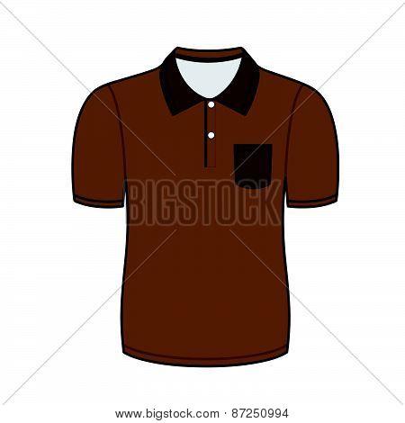 Brown polo shirt outline