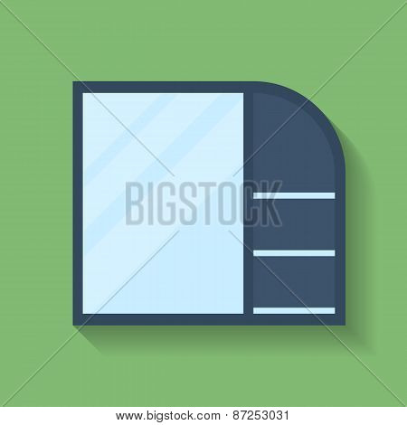 Icon Of Cabinet. Flat Style