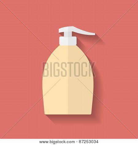 Icon Of Liquid Soap. Flat Style