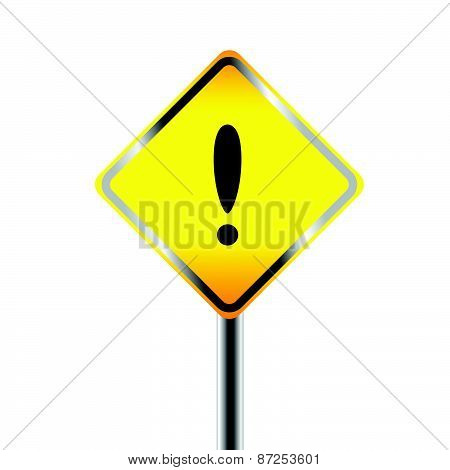 Exclamation danger signs