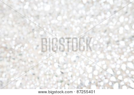 White holiday abstract glitter defocused background