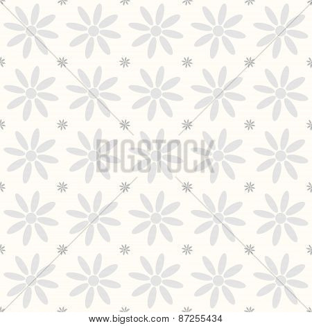 Seamless flower pattern chamomile