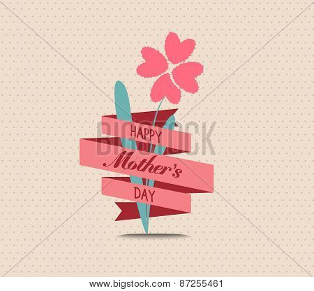 mothers day flower greeting card