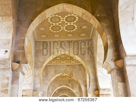 Archway At Hassan Ii Mosque - Casablanca.
