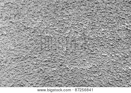 Bumpy Texture Cement Wall Of Gray Color